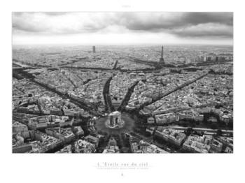 Paris - L'Etoile vue du ciel Reproducere