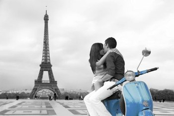 Paris - scooter Poster