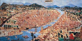 Pianta di Firenze verso il 1470 Reproducere