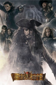 Pirates of Caribbean- All together Poster