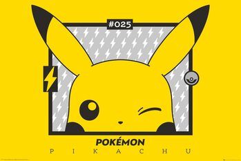 Poster Pokemon - Pikachu wink