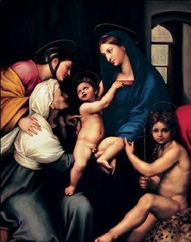 Raphael Sanzio - Madonna dell'Impannata, 1514 Reproducere