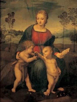 Raphael Sanzio - Madonna of the Goldfinch - Madonna del Cardellino Reproducere