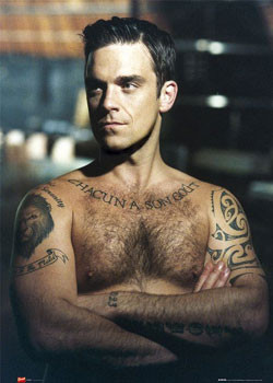 Robbie Williams - arms folded Poster