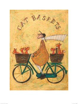 Sam Toft - Cat Baskets Reproducere