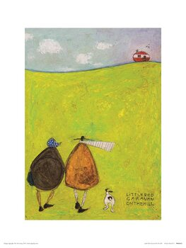 Sam Toft - Little Red Caravan on the Hill Reproducere