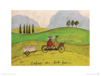 Sam Toft - Taking the Ducks Home Reproducere