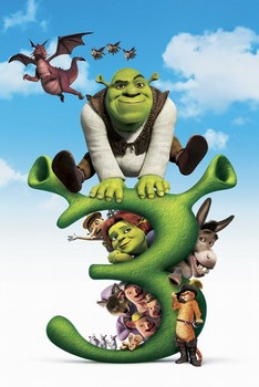 SHREK 3 - big 3 Poster