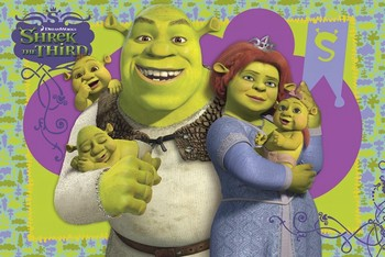 SHREK 3 - family Poster