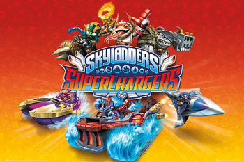 Skylanders Superchargers - Characters Poster