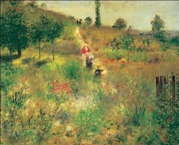 Slightly Uphill Path in the Countryside, 1875 Reproducere