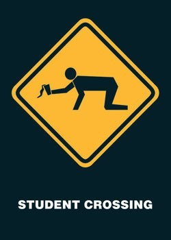 Student crossing Poster