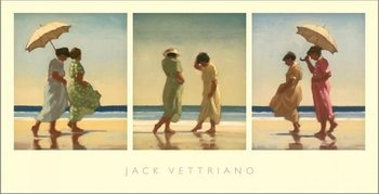 Summer Days Triptych Reproducere