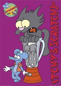 THE SIMPSONS - itchy & scratchy Poster