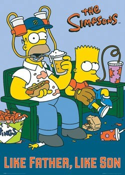 THE SIMPSONS - like father, like son Poster