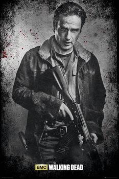 The Walking Dead - Rick b&w Poster