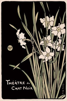 Theatre du Chat noir - flowers Poster
