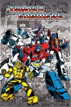 Transformers G1 - Retro Comics Poster