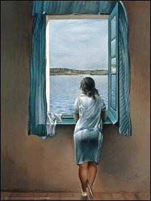 woman at the window Reproducere