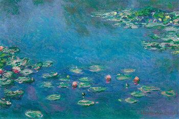 Poster Claude Monet - Waterlillies