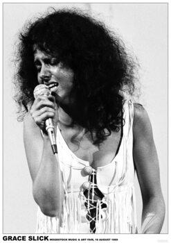 Poster Grace Slick - Woodstock 1969