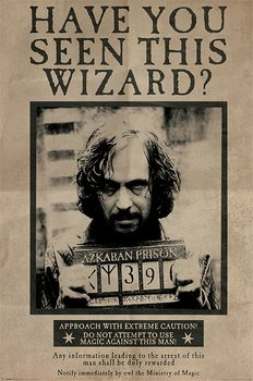 Poster Harry Potter - Wanted Sirius Black
