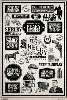 Poster Peaky Blinders - Infographic