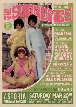 Poster The Supremes - Live in London