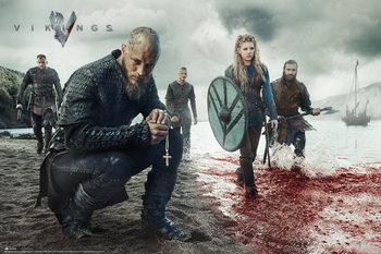 Poster Vikings - Blood Landscape