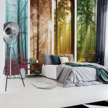 4 Seasons In The Forest Poster Mural XXL