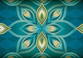 Abstract Art - Mandala Poster Mural XXL