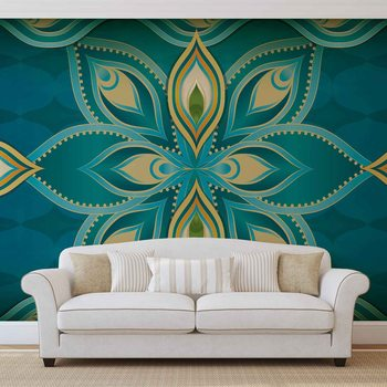 Abstract Art - Mandala Poster Mural XXL