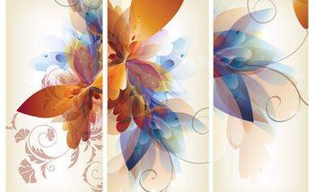 Abstract flower Poster Mural XXL