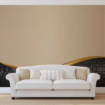 Abstract Pattern Vintage Poster Mural XXL