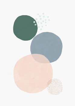 Abstract soft circles part 3 Poster Mural XXL