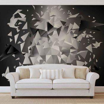 Abstrait Oiseaux Explosion Poster Mural XXL