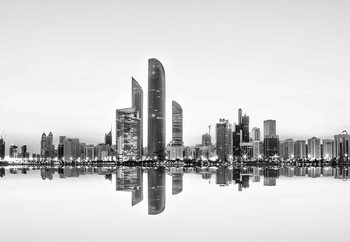 Abu Dhabi Urban Reflection Poster Mural XXL
