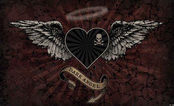 Alchimie Cœur Ange Noir Tatou Poster Mural XXL