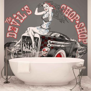 Alchimie Hot Rod Devil Voiture Poster Mural XXL