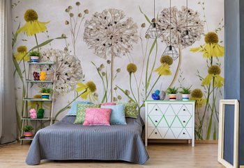 Alliums And Heleniums Poster Mural XXL