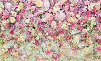 Beautiful Flowers Pastel Colours Poster Mural XXL