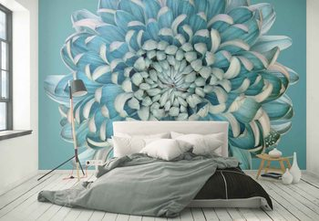 Blue Chrysanth Poster Mural XXL