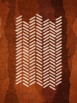 Boho Fishbone Poster Mural XXL