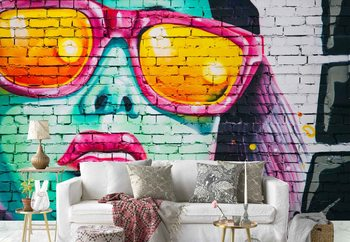 Bright Bricks Poster Mural XXL
