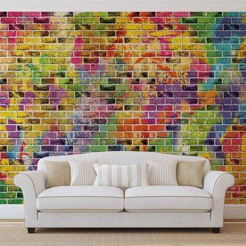 Briques multicolores Poster Mural XXL