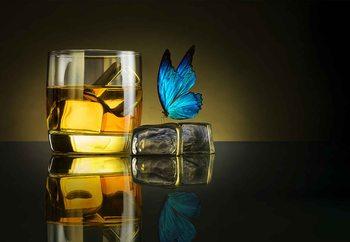 Butterfly Drink Poster Mural XXL
