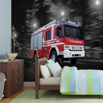 Camion de pompier Poster Mural XXL