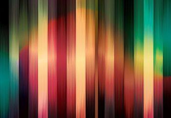 Colourful Light Streaks Modern Design Poster Mural XXL