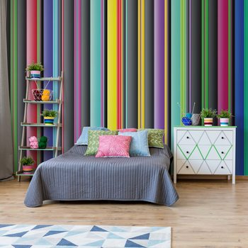 Colourful Stripe Pattern Poster Mural XXL