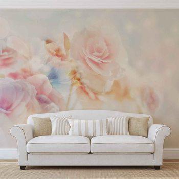 Couleurs en pastel de fleurs Poster Mural XXL
